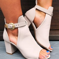 Just For Now Booties: Blushed Nude
