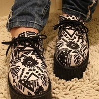 Pantshoes with Doodle Prints White from topsales