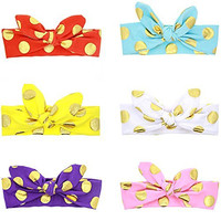 Mookiraer® Baby Girl Newest Turban Infant Headband Kid's Wrap Knotted HairBand