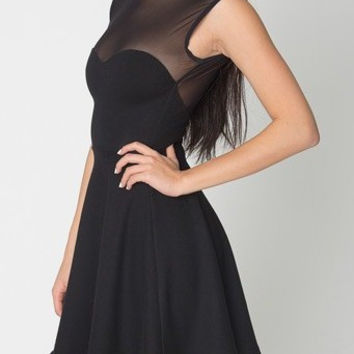 summer new vintage sexy ponte sweetheart skater dress yy426