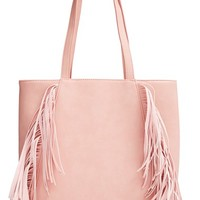 Junior Women's Emperia Fringe Faux Leather Tote