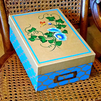 Memory Box With Blue Flowers