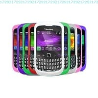 Ten Silicone Cases / Skins / Covers for Blackberry Curve 8520 / 8530 / 9300 / 9330 /3G - Black, Solid White, Clear White, Hot Pink, Light Pink, Purple, Green, Red, Dr. Blue, Sky Blue:Amazon:Cell Phones & Accessories