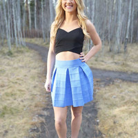 Young At Heart Skirt - Periwinkle