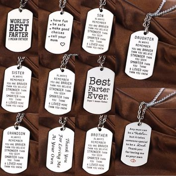 TooLoud Your Girlfriend My Girlfriend Military Adult Dog Tag Chain Necklace