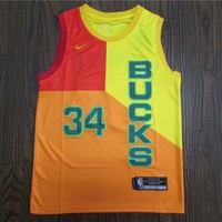 Milwaukee Bucks 34 Giannis Antetokounmpo City Edition Jersey