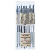 Polycarbon Ballpoint Pen Black-10pc set