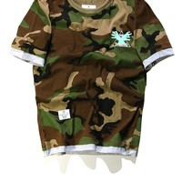 Tops Short Sleeve Camouflage Couple T-shirts [10277046087]