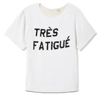 Tres Fatigue Tee by Ashish for Preorder on Moda Operandi