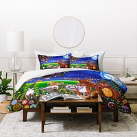 Renie Britenbucher Love You To The Moon And Back Duvet Cover