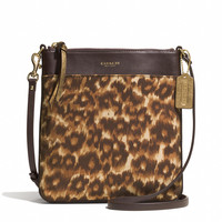 MADISON NORTH/SOUTH SWINGPACK IN OCELOT PRINT FABRIC