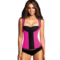 Latex Waist Training Corset Body Shapers Vest Latex Waist Cincher Tank Tops Shapewear Slimming Shapewear women 58