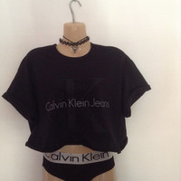 Classic old skool ck calvin klein crop top urban swag