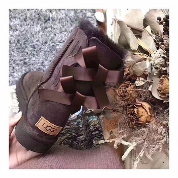 """""""UGG"""" Women Trending Fashion Wool Snow Boots F Brown"""