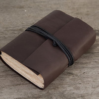 Reclaimed leather journal leather notebook travel by BrotherWorks