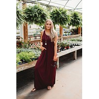Modestly Posed Racerback Maxi (Dark Wine)