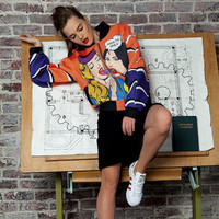 New Womens lollipop printed casual jacket HC0050