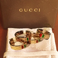 GUCCI Fashion hot women ring bracelet jewelry Accessories sliver H-CLSPCJ