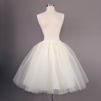 Tulle skirt-adult-lined-bachelorette tutu- ivory, white, black or navy