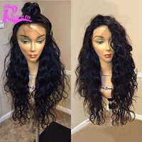 Water Wave Full Lace Human Hair Wigs For Black Women Brazilian Glueless Full Lace Wigs,Lace Front Human Hair Wigs With Baby Hair