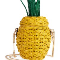 Michael Kors Wicker Pineapple Shoulder Bag | Nordstrom