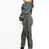 Side To Side Joggers - Olive