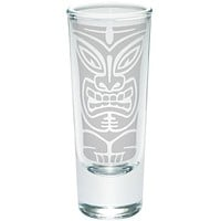 Tiki Face 2 Etched Shot Glass Shooter