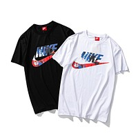 NIKE Women Men Casual Print Short Sleeve T-Shirt