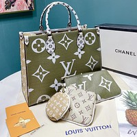 Hipgirls Louis Vuitton LV New Hot Sale Women's Four-Piece Handbag + Small Wallet