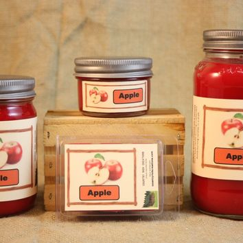 Apple Orchard Scented Candle, Apple Orchard Scented Wax Tarts, 26 oz, 12 oz, 4 oz Jar Candles or 3.5 Clam Shell Wax Melts