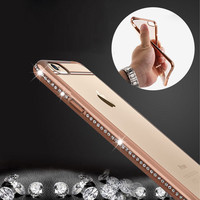 Luxury Rhinestone Frame Case For Iphone 6 6s 6 Plus 5 5s
