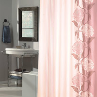 """Royal Bath Extra Long Water Repellant Fabric Shower Curtain Liner with Weighted Hem (70"""" x 84"""") - Chelsea Mauve"""