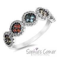 Absolutelty Stunning Swarovski Element Ring in Sterling Silver