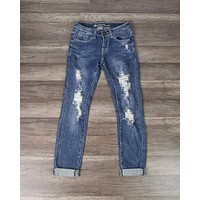 Final Sale - 7th Street Distressed Skinny Denim Jeans