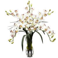 Cymbidium Orchid Silk Flower Arrangement