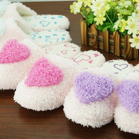 Women Soft Warm Indoor Slippers Cotton Sandal House Home Anti-slip Shoes = 1705110916