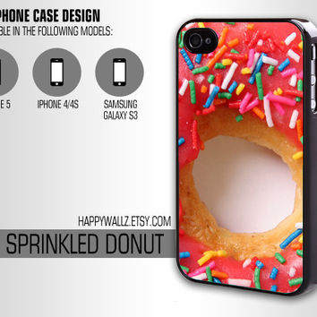 Sprinkled Donut Food Iphone Case Sprinkles Iphone 4 case Hipster Iphone 5 case Iphone 4s case Samsung Galaxy S3 Case Iphone 4 Cover