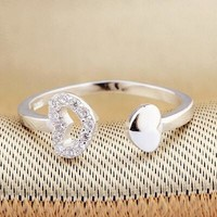 Stylish Gift Jewelry New Arrival Shiny 925 Silver Ring [7652921799]