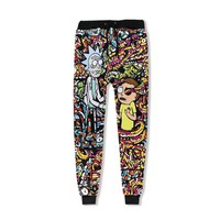 New Unisex Rick and Morty 3D Print Loose Pants Mens Cool Street full Length Pencil Pant Ricky Womens Casual Trousers Stretwear