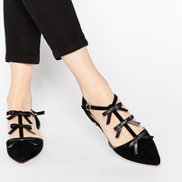 River Island Pointed Flat Shoes with Bow