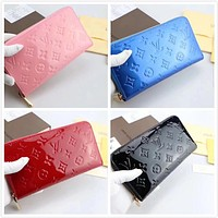 LV Louis Vuitton MONOGRAM LEATHER ZIPPY WALLET