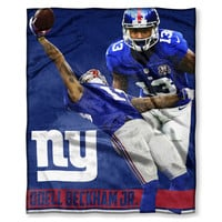 """NY Giants - Odell Beckham Jr. National Football League Players Association, 50""""""""x 60"""""""" Players High Definition Silk Touch Throw"""