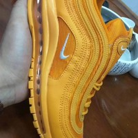 HCXX 19July 958 Nike Air Max 97 Flyknit Breathable Running Shoes yellow