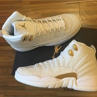 "Air Jordan 12 Retro AJ 12 ""OVO"" Men Women Basketball Shoes"