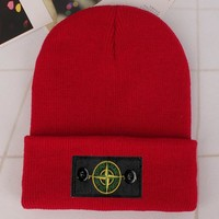 Stone Island Fashion Edgy Winter Beanies Knit Hat Cap-7