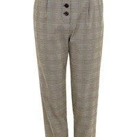 Checked Button Trousers - New In Fashion