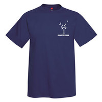Charleston Dove Palmetto Tree and Moon T-Shirt - Navy