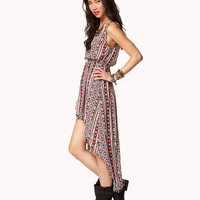 Ganado Print High-Low Dress