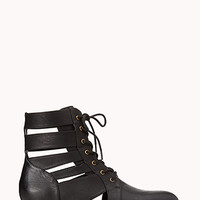 FOREVER 21 Cutout Combat Boots