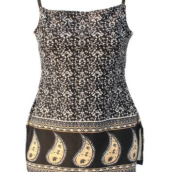 Jasmine Paisley Floral Coin Sequined Mini Slip Dress